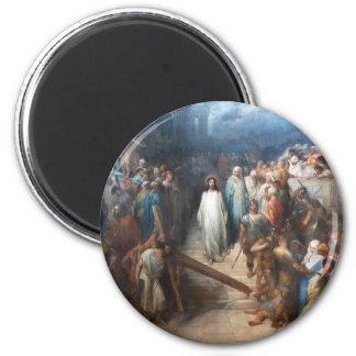 Christ Leaving Praetorium 6 Cm Round Magnet