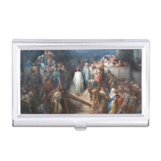 Christ Leaving Praetorium Business Card Holder