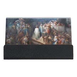 Christ Leaving Praetorium Desk Business Card Holder