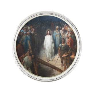 Christ Leaving Praetorium Lapel Pin