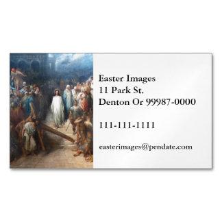 Christ Leaving Praetorium Magnetic Business Cards
