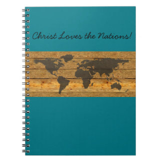 Christ Loves the Nations Journal Map Note Book