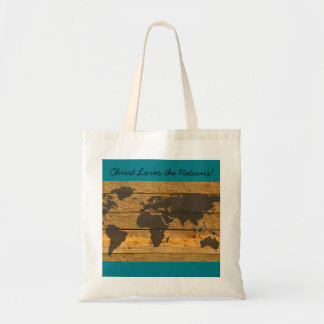 Christ Loves the Nations Tote Bag Map