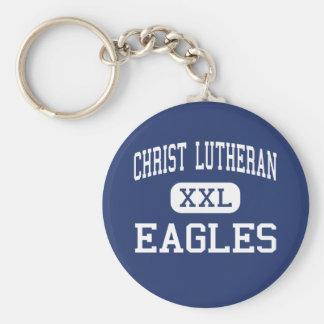 Christ Lutheran - Eagles - High - Davenport Iowa Basic Round Button Key Ring