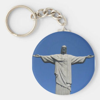 Christ of the Andes Basic Round Button Key Ring