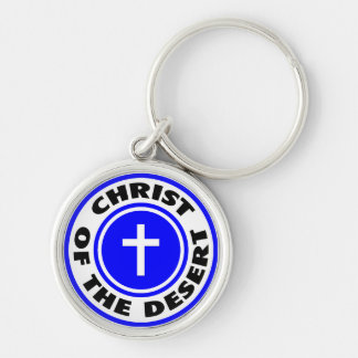 Christ of the Desert Silver-Colored Round Key Ring