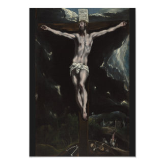 Christ on the Cross by El Greco Cards