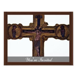 Christ On The Cross By Meister Des Reliquienkreuze 11 Cm X 14 Cm Invitation Card