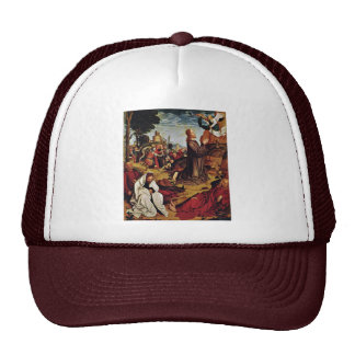 Christ On The Mount Of Olives By Meister Von St. S Mesh Hat