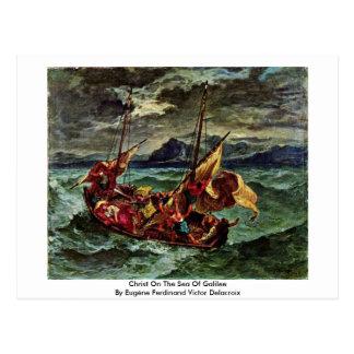 Christ On The Sea Of Galilee Postcard