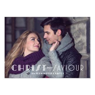 Christ our Savior Christmas Card 13 Cm X 18 Cm Invitation Card