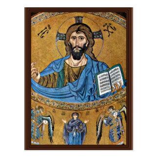 Christ Pantocrator By Meister Von Cefalã¹ (Best Qu Postcard