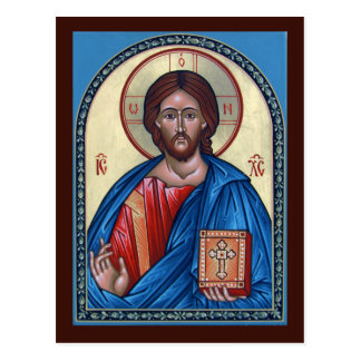 Christ Pantocrator Prayer Card Postcard