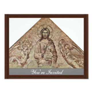 Christ Pantocrator With Angels Fragment By Martini Personalized Announcement