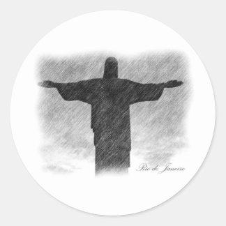 Christ Redeemer 1 Round Sticker