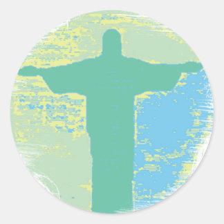 """Christ"" Rio-Brazil Classic Round Sticker"