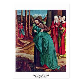 Christ S Farewell To Maria By Strigel Bernhard Postcards