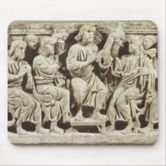Christ seated and teaching surrounded by the Apost Mouse Pad