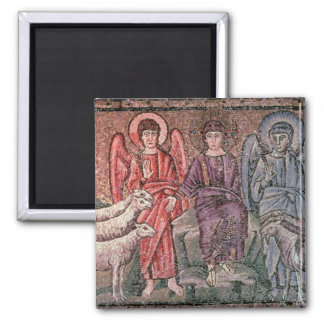 Christ Separates the Sheep from the Goats, 6th cen Square Magnet