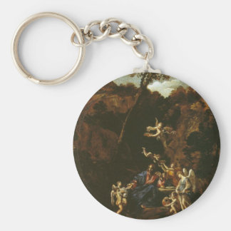 Christ Served by Angels circa 1616 Keychain