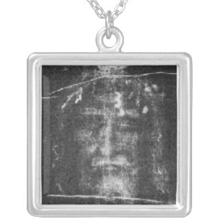 Christ - Shroud Of Turin Silver Plated Necklace