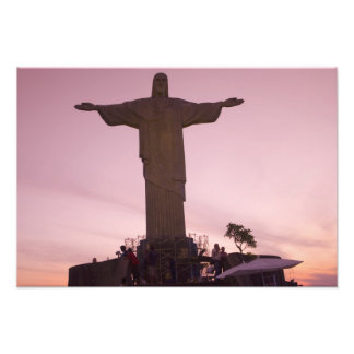 Christ Statue at Corcovado near outskirts of Photo