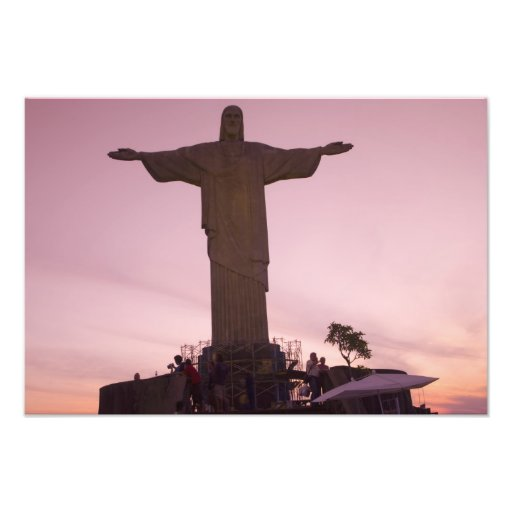 Christ Statue at Corcovado, near outskirts of Photo