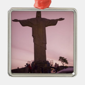 Christ Statue at Corcovado, near outskirts of Silver-Colored Square Decoration
