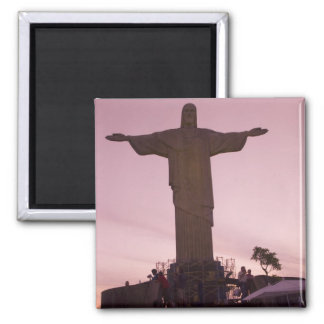 Christ Statue at Corcovado, near outskirts of Square Magnet