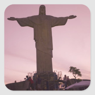Christ Statue at Corcovado, near outskirts of Square Sticker
