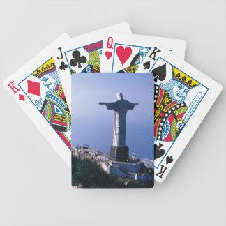 Christ statue poker deck