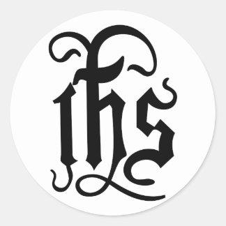 Christ Symbol Classic Round Sticker
