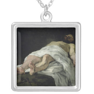 Christ taken down from the Cross, 1874 Silver Plated Necklace