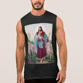 Christ The Good Shepherd Bernard Plockhorst 1878 Sleeveless Shirt
