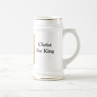 Christ the KIng, Lisbpn, at sunset Beer Stein