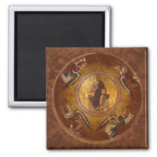 Christ the Pantakrator Christian Icon Square Magnet