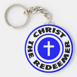 Christ the Redeemer Basic Round Button Key Ring