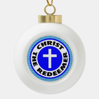 Christ the Redeemer Ceramic Ball Decoration