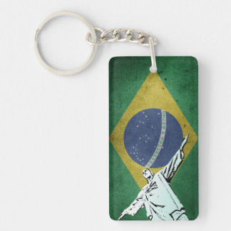 Christ the Redeemer Double-Sided Rectangular Acrylic Key Ring