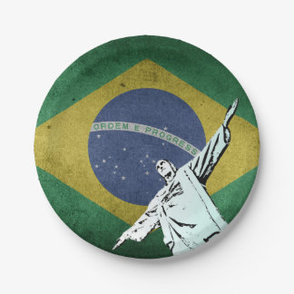 Christ the Redeemer Paper Plate
