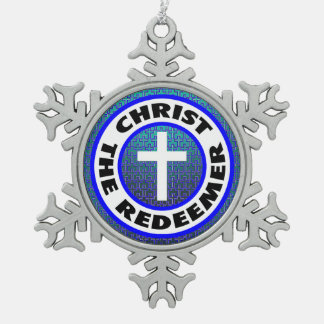 Christ the Redeemer Pewter Snowflake Decoration