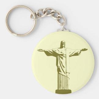 Christ the Redeemer . Rio de Janeiro Basic Round Button Key Ring