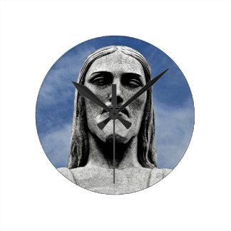 Christ the Redeemer Round Clock