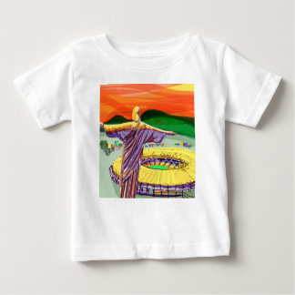Christ The Redemer and Maracanã Stadium - Rio - Br Baby T-Shirt