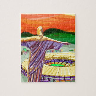 Christ The Redemer and Maracanã Stadium - Rio - Br Jigsaw Puzzle