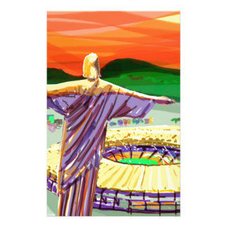 Christ The Redemer and Maracanã Stadium - Rio - Br Stationery