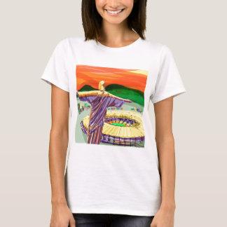 Christ The Redemer and Maracanã Stadium - Rio - Br T-Shirt