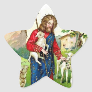 Christ The Shepherd Star Sticker