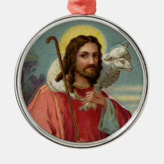Christ the Shepherd with Lamb Vintage Easter Ornament