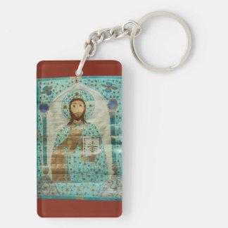 Christ the Teacher Double-Sided Rectangular Acrylic Key Ring